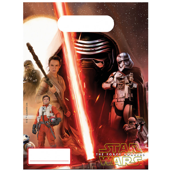 Disney Store Partypåse Star Wars The Force Awakens Partypåsar 6-Pack från Disney store