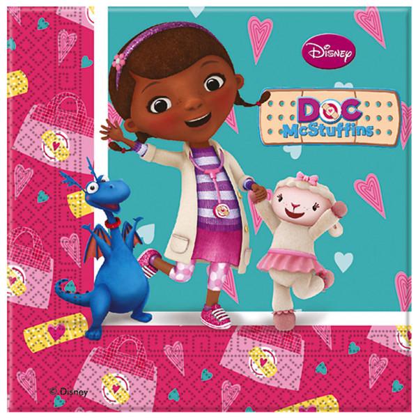 Disney Store Partyservett Doktor Mcstuffins Partyservetter 20-Pack från Disney store