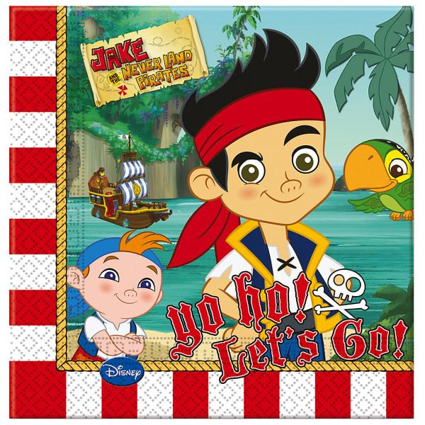 Disney Store Partyservett Jake Och Piraterna I Landet Ingenstans Partyservetter 20-Pack från Disney store