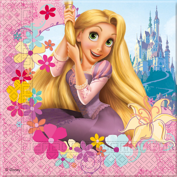 Disney Store Partyservett Rapunzel 20X Partyservetter från Disney store