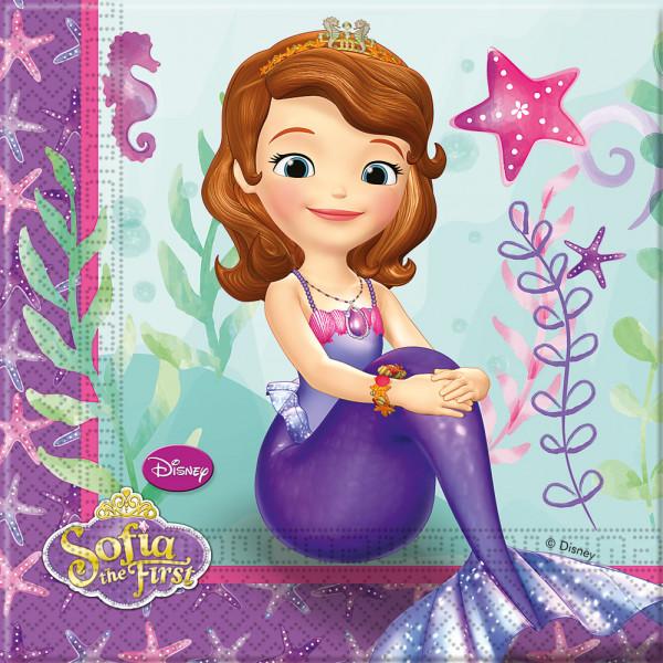 Disney Store Partyservett Sofia Den Första 20X Partyservetter från Disney store