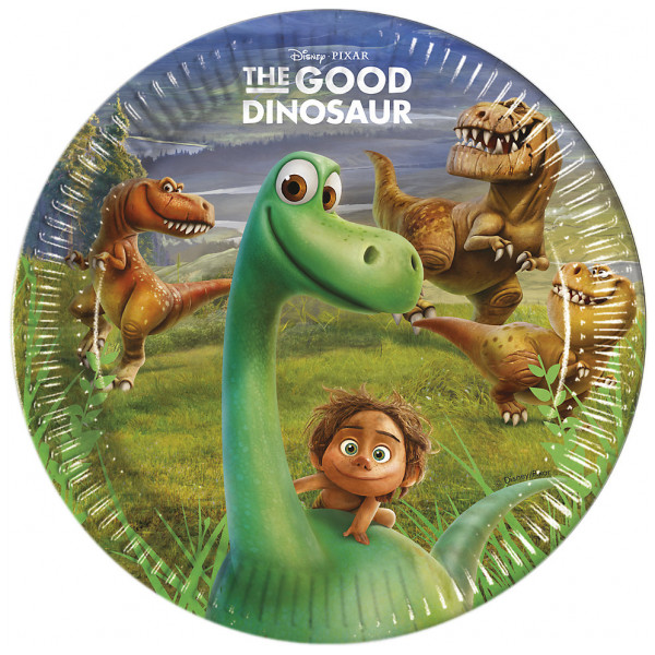Disney Store Partytallrik Den Gode Dinosaurien 8X Partytallrikar från Disney store