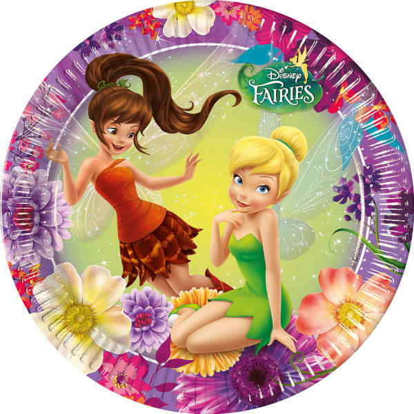 Disney Store Partytallrik Disney Fairies 8X Partytallrikar från Disney store