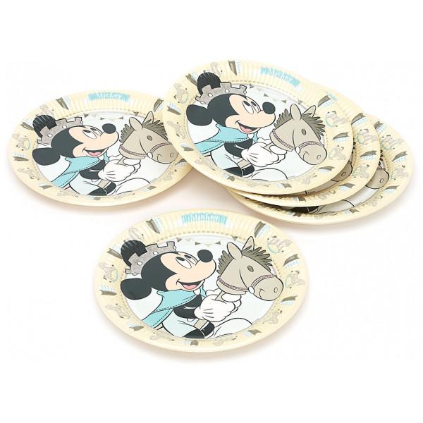 Disney Store Partytallrik Musse Pigg Som Prins 8X Partytallrikar från Disney store