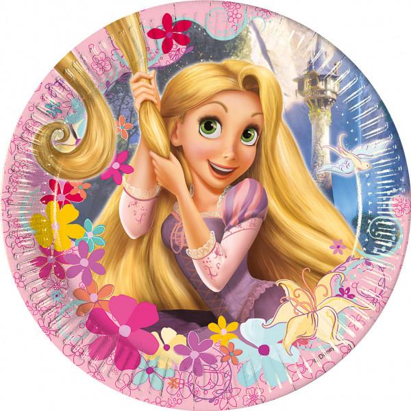 Disney Store Partytallrik Rapunzel 8X Partytallrikar från Disney store