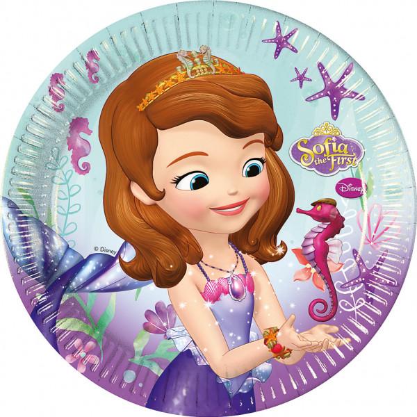 Disney Store Partytallrik Sofia Den Första 8X Partytallrikar från Disney store