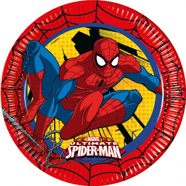 Disney Store Partytallrik Spiderman 8X Partytallrikar från Disney store