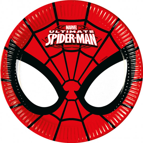 Disney Store Partytallrik Spiderman 8X Små Partytallrikar från Disney store