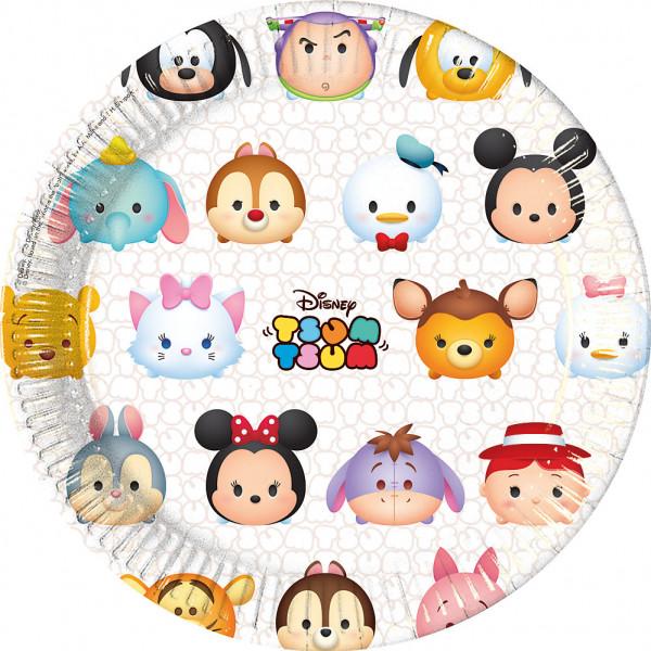 Disney Store Partytallrik Tsum 8X Partytallrikar från Disney store