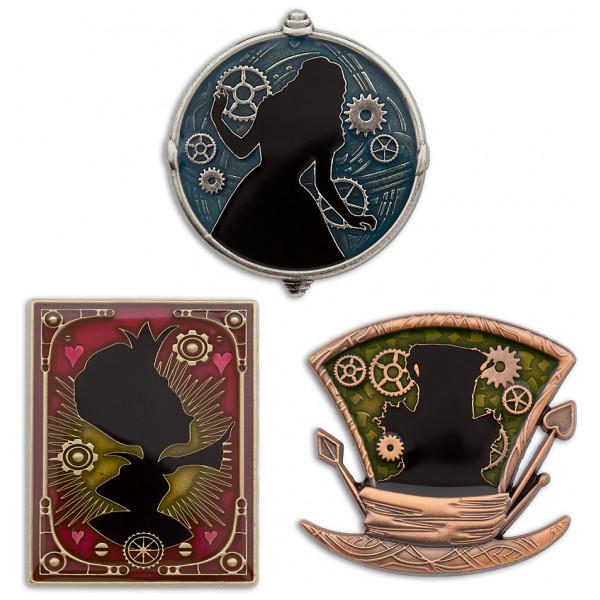 Disney Store Pins Alice I Spegellandet I Begränsad Upplaga Set Med 3 St från Disney store