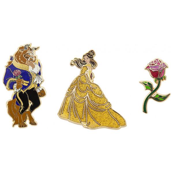 Disney Store Pins Art Of Belle I Begränsad Upplaga 3 St från Disney store