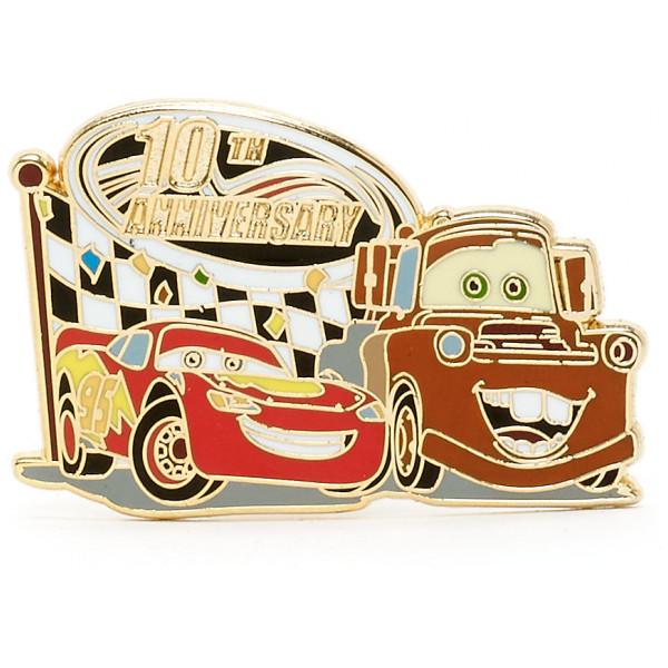 Disney Store Pins Bilar 10-Års Jubileum Pin I Begränsad Upplaga från Disney store