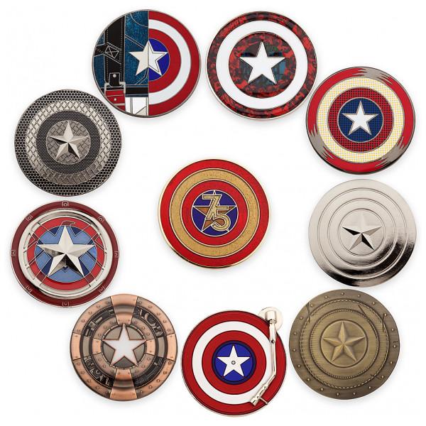 Disney Store Pins Captain America 75-Årsjubileum Pinset I Begränsad Upplaga från Disney store