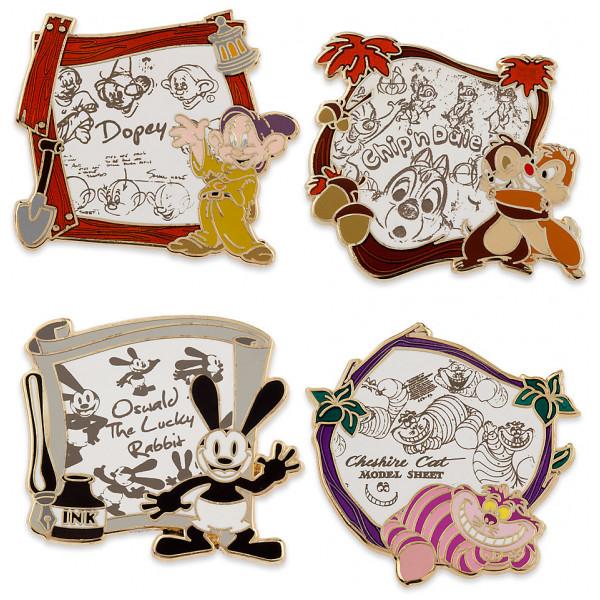 Disney Store Pins Disney Tecknade Filmer 4 St från Disney store