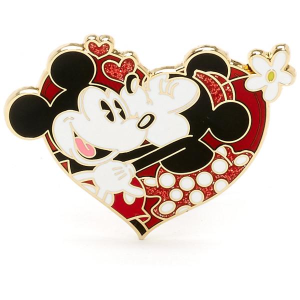 Disney Store Pins Musse Pigg Och Mimmi Pigg Alla Hjärtans Dag Pin I Begränsad Upplaga från Disney store