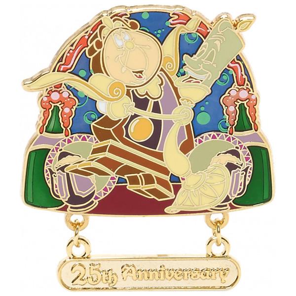 Disney Store Pins Skönheten Och Odjuret 25-Årsjubileum Pin I Begränsad Upplaga från Disney store