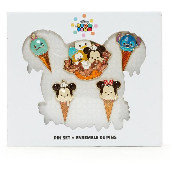 Disney Store Pins Tsum Figurpins Med Glass från Disney store