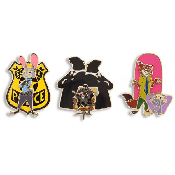 Disney Store Pins Zootropolis Set Med I Begränsad Upplaga från Disney store