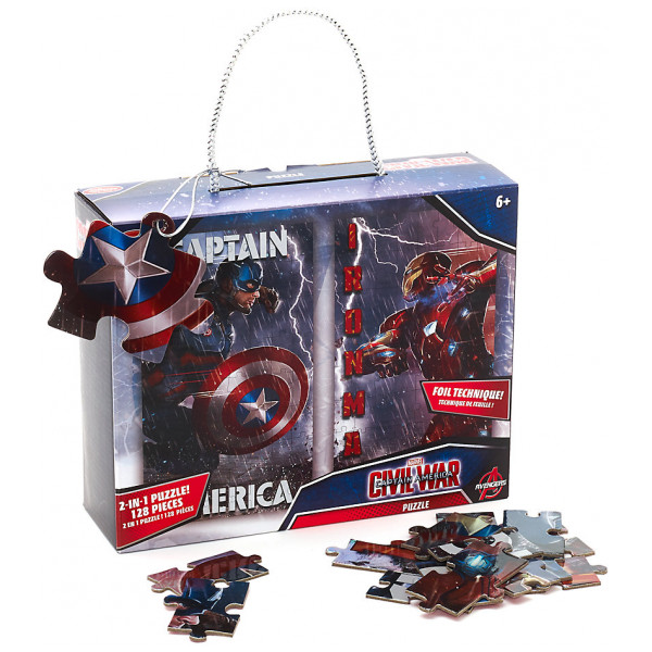 Disney Store Pussel Avengers Captain America Och Iron Man 2-I-1-Pusselset från Disney store