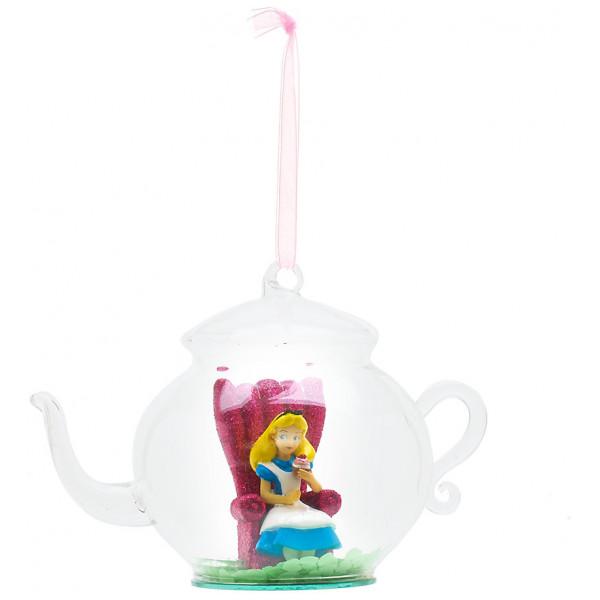 Disney Store Samlarfigur Alice Julgranskula Med Tekanna Disneyland Paris från Disney store