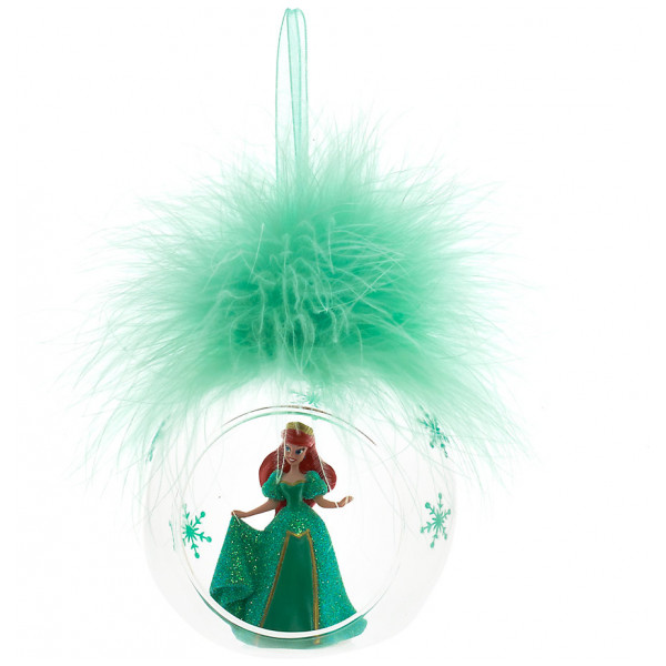 Disney Store Samlarfigur Ariel Julgranskula Med Plym Disneyland Paris från Disney store