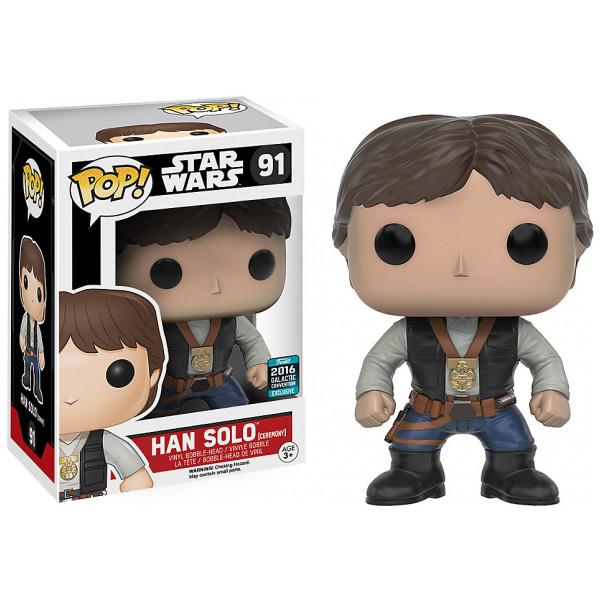 Disney Store Samlarfigur Han Solo Ceremony Pop Vinylfigur Från Funko från Disney store