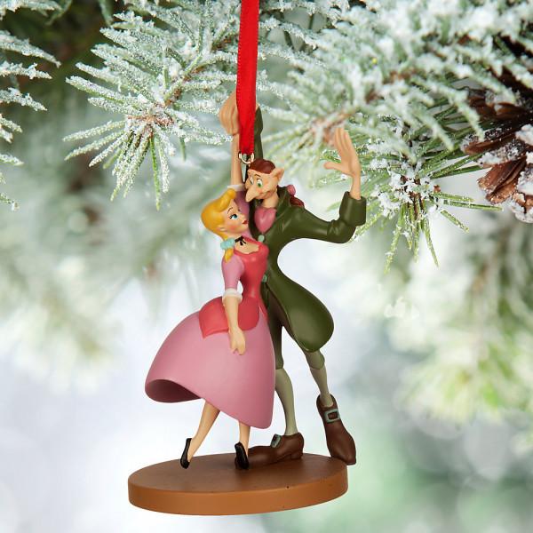 Disney Store Samlarfigur Ichabod Och Katrina Ornament från Disney store