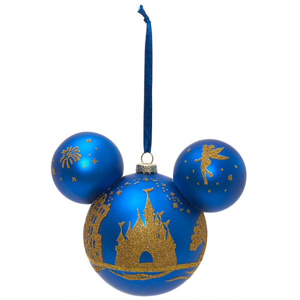 Disney Store Samlarfigur Musse Pigg Dekoration Med Slottssiluett Walt Disney World från Disney store