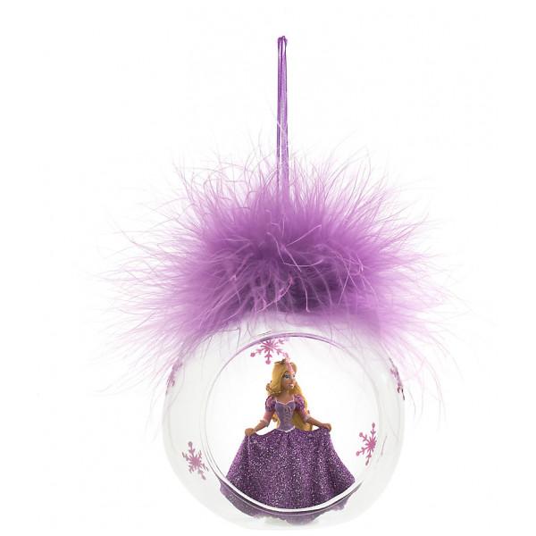 Disney Store Samlarfigur Rapunzel Julgranskula Med Plym Disneyland Paris från Disney store