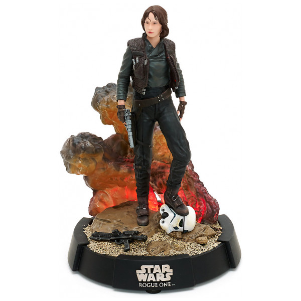 Disney Store Samlarfigur Upplyst Sergeant Jyn Erso-Figur I Begränsad Upplaga Rogue One A Star Wars Story från Disney store