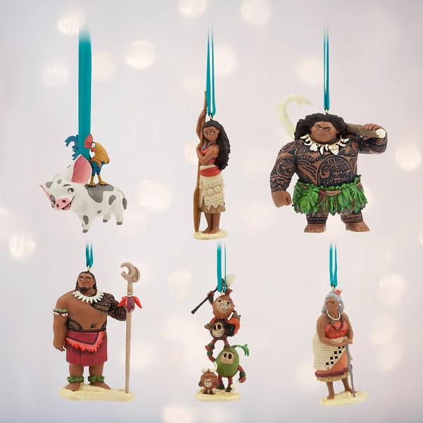 Disney Store Samlarfigur Vaiana Ornament Set Med 6 från Disney store