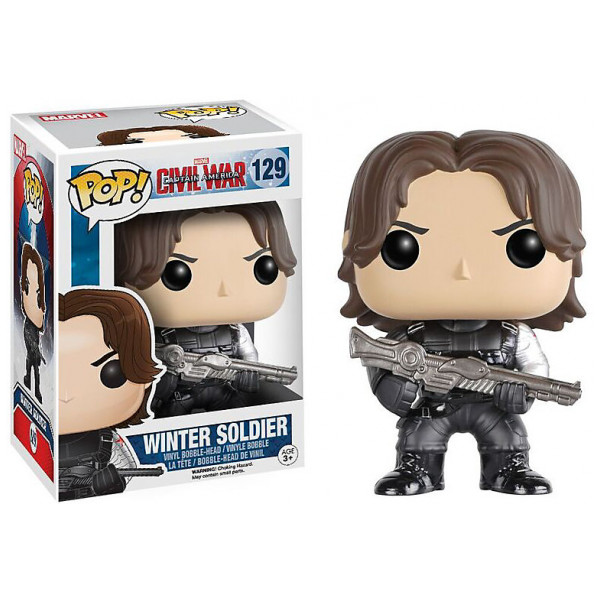 Disney Store Samlarfigur Winter Soldier Pop Vinylfigur Från Funko Captain America Civil War från Disney store