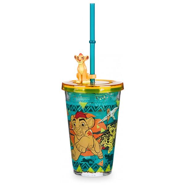 Disney Store Slask The Lion Guard Vattenfyllt Dricksglas Med Sugrör från Disney store