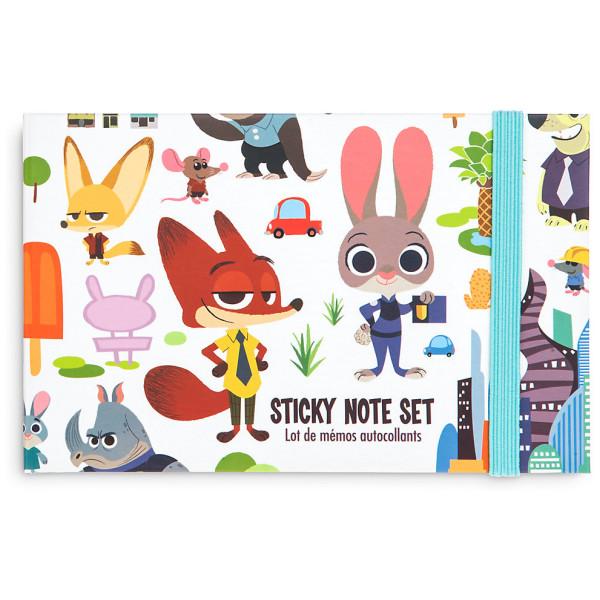 Disney Store Zootropolis Set Med Fästisar Och Penna från Disney store