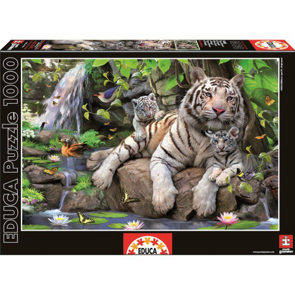 Educa Pussel Puzzle 1000 - Bengal White Tigers 014808 från Educa