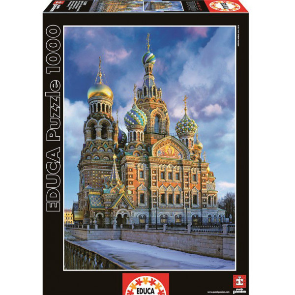 Educa Pussel Puzzle 1000 - Church St Petersburg 016289 från Educa