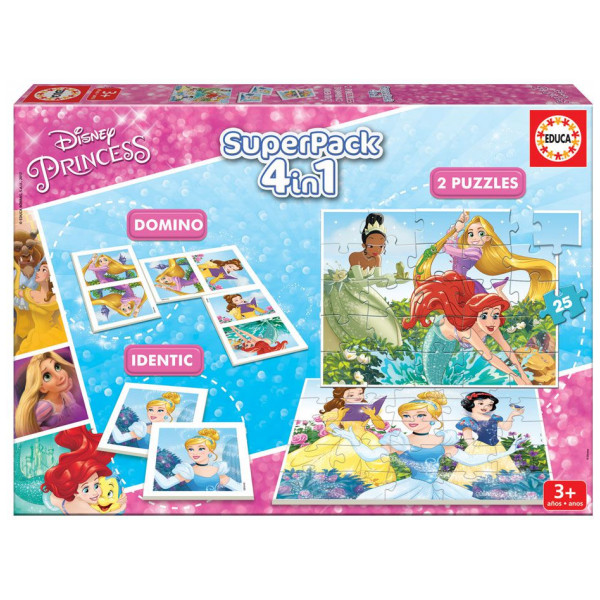 Educa Pussel Superpack 4-In-1 Disney Princesses från Educa