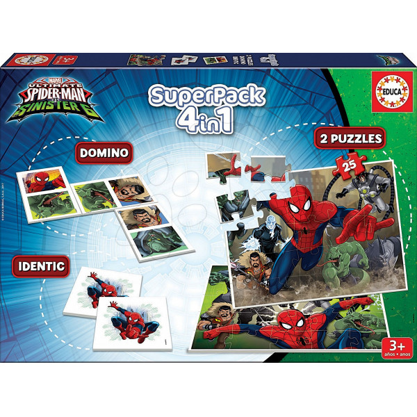 Educa Pussel Superpack 4-In-1 Spiderman från Educa