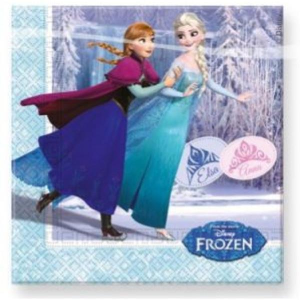 Frozen Kalas Frost Skating Servett 20St från Frozen
