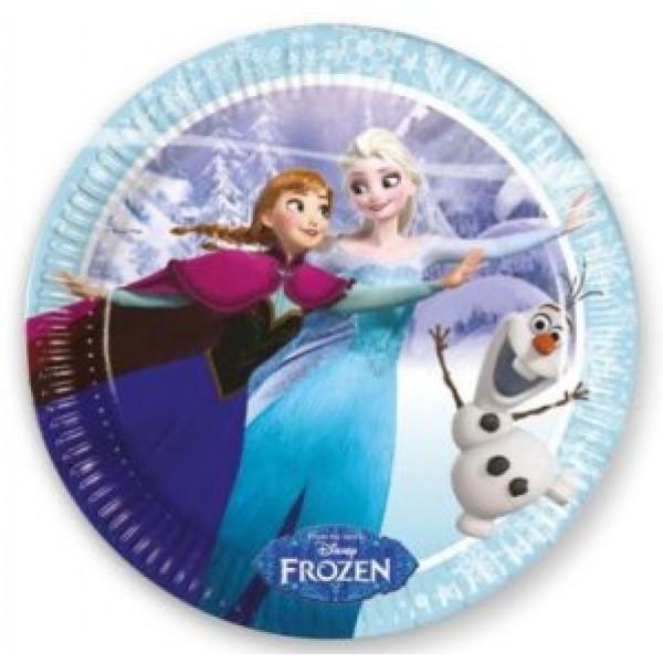 Frozen Kalas Frost Skating Tallrik 20 Cm 8St från Frozen