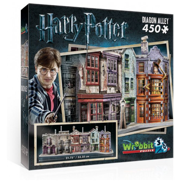 Harry Potter Pussel Wrebbit 3D Puzzle - Diagon Alley från Harry potter