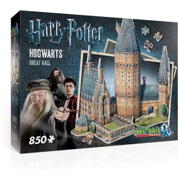 Harry Potter Pussel Wrebbit 3D Puzzle - Hogwarts Great Hall från Harry potter