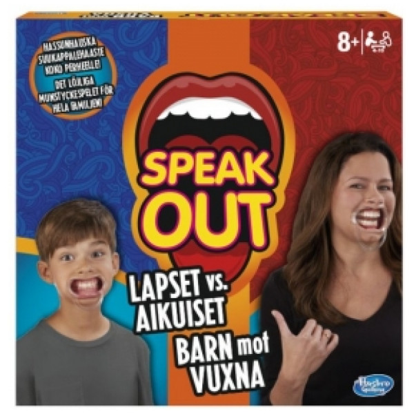 Hasbro Sällskapsspel Speak Out Kids Vs Parents från Hasbro