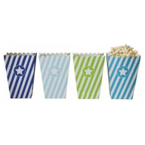 Jabadabado Kalas Party Popcorn Box Blå från Jabadabado