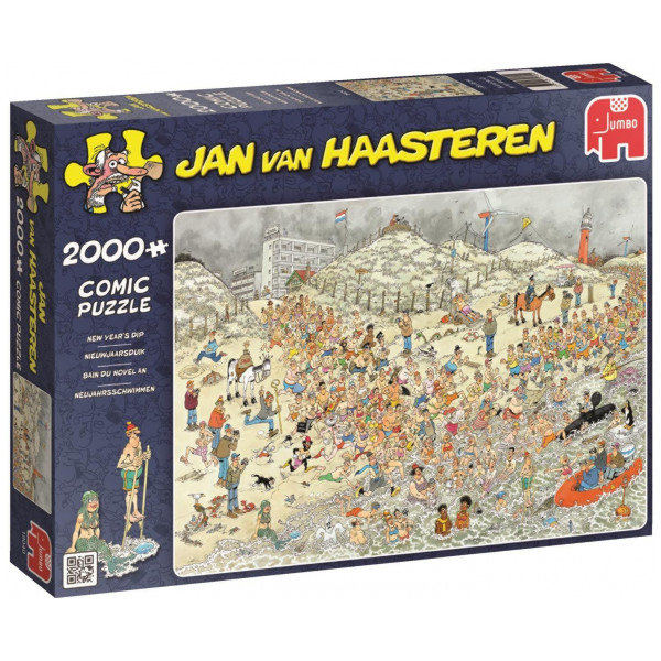 Jan Van Haasteren Pussel 2000 Pcs Puzzle - New Years Dip från Jan van haasteren