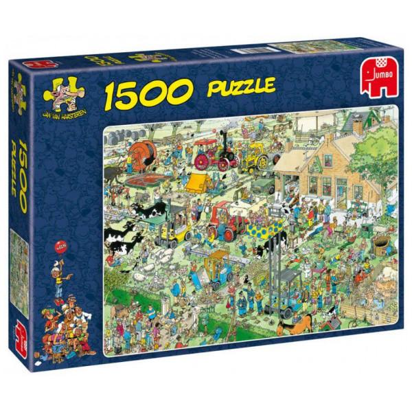 Jumbo Pussel Jan Van Haasteren - 1500 Pcs Puzzle - Farm Visit från Jumbo