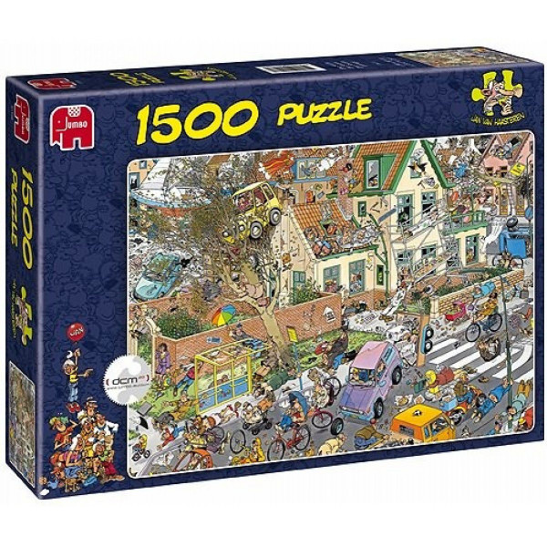 Jumbo Pussel Jan Van Haasteren - 1500 Pcs Puzzle - The Storm från Jumbo