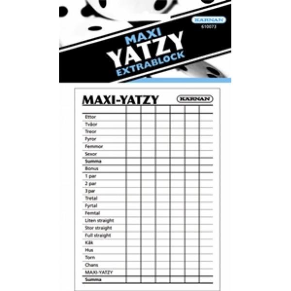 Kärnan Sällskapsspel Extrablock Maxiyatzy från Kärnan