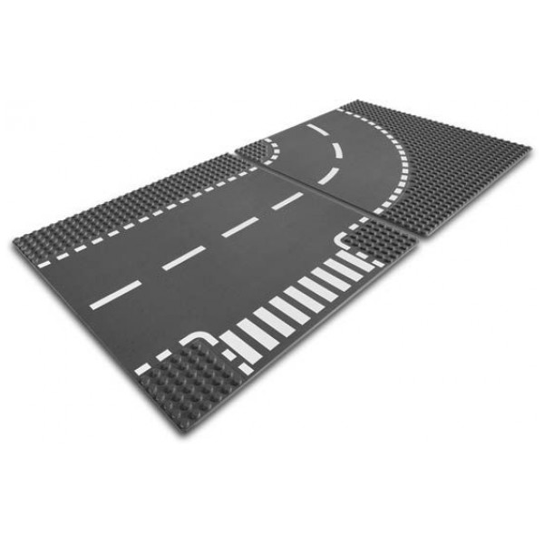 Lego City - Junction And Curved Road Plates 7281 från Lego