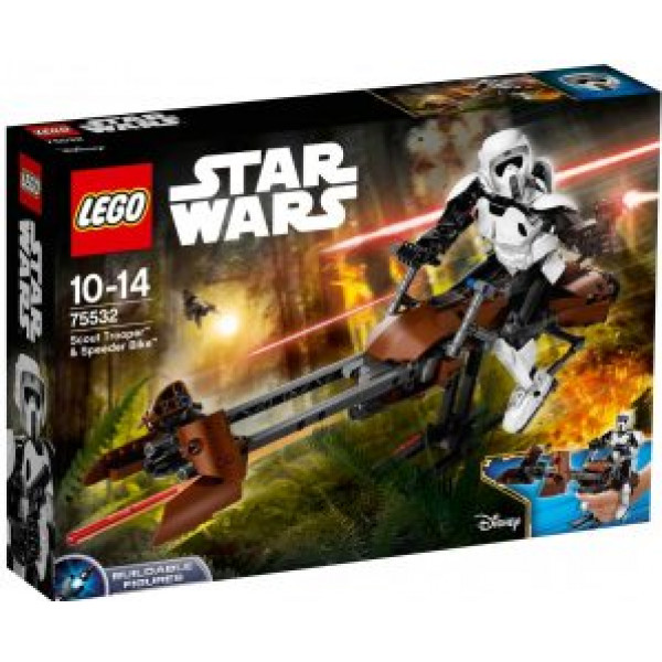 Lego Constraction Star Wars - Scout Trooper & Speeder Bike - 75532 från Lego
